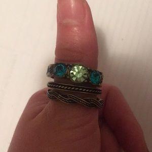 Three bronze rings large